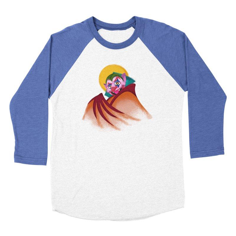 put on the happy fangs Women's Baseball Triblend Longsleeve T-Shirt by okik's Artist Shop