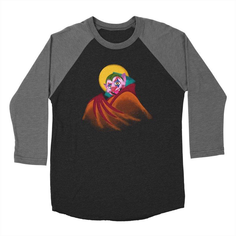 put on the happy fangs Men's Baseball Triblend Longsleeve T-Shirt by okik's Artist Shop