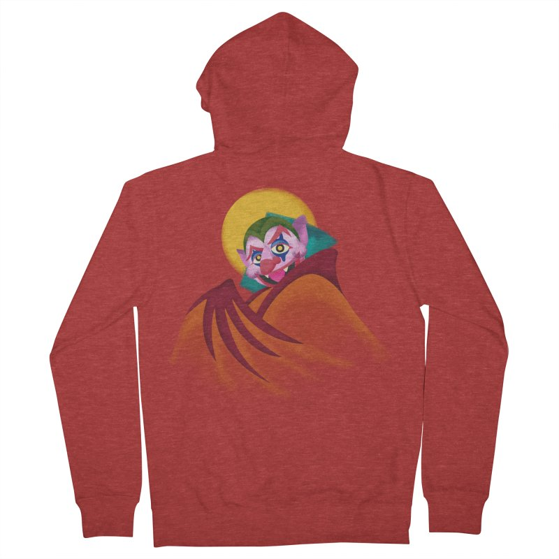 put on the happy fangs Women's French Terry Zip-Up Hoody by okik's Artist Shop