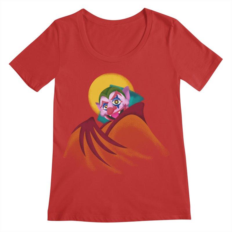 put on the happy fangs Women's Regular Scoop Neck by okik's Artist Shop