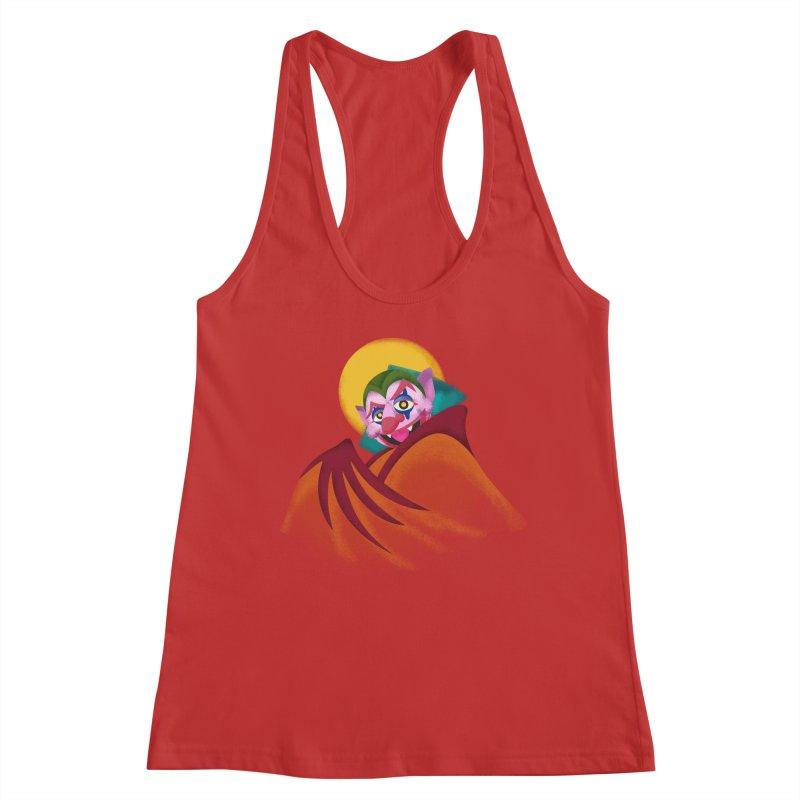 put on the happy fangs Women's Racerback Tank by okik's Artist Shop