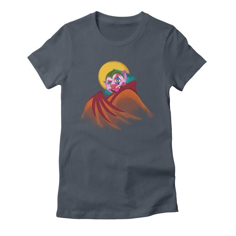 put on the happy fangs Women's T-Shirt by okik's Artist Shop