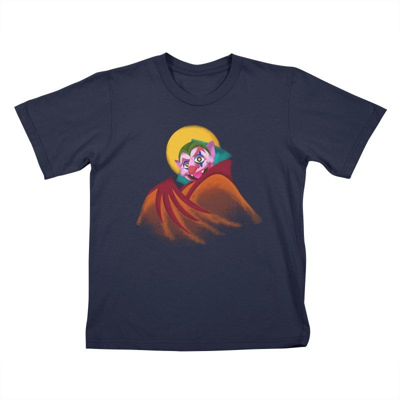 put on the happy fangs Kids T-Shirt by okik's Artist Shop