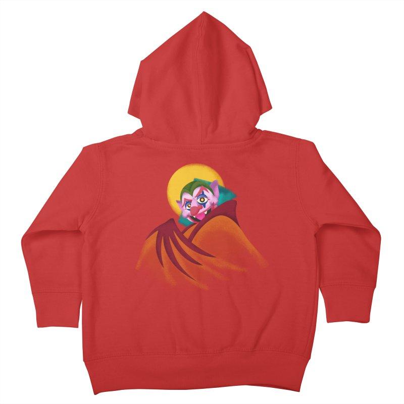 put on the happy fangs Kids Toddler Zip-Up Hoody by okik's Artist Shop