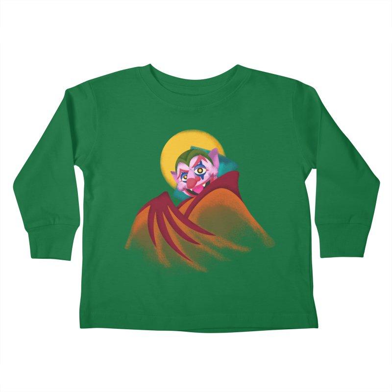 put on the happy fangs Kids Toddler Longsleeve T-Shirt by okik's Artist Shop