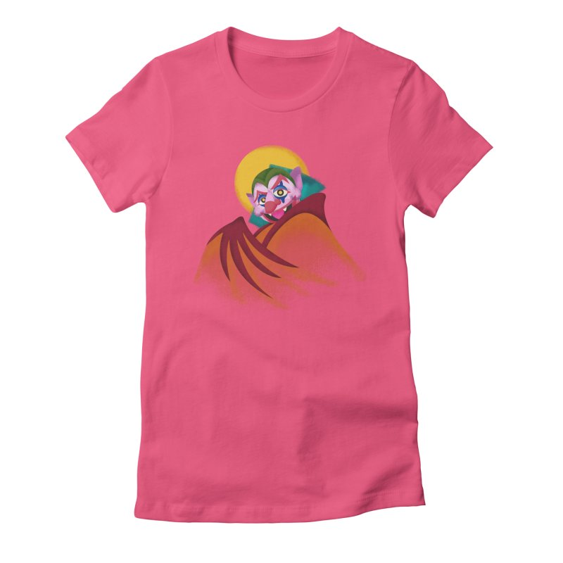 put on the happy fangs Women's Fitted T-Shirt by okik's Artist Shop