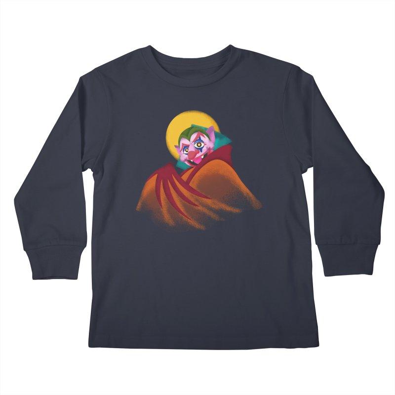 put on the happy fangs Kids Longsleeve T-Shirt by okik's Artist Shop