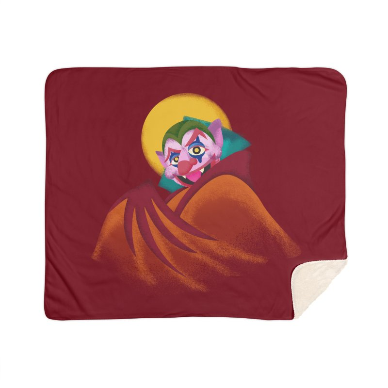 put on the happy fangs Home Sherpa Blanket Blanket by okik's Artist Shop