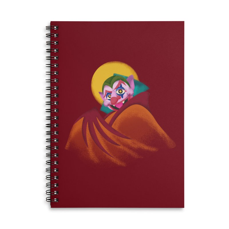 put on the happy fangs Accessories Lined Spiral Notebook by okik's Artist Shop