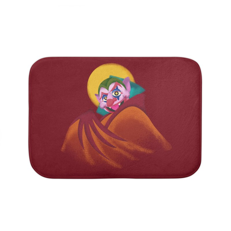 put on the happy fangs Home Bath Mat by okik's Artist Shop