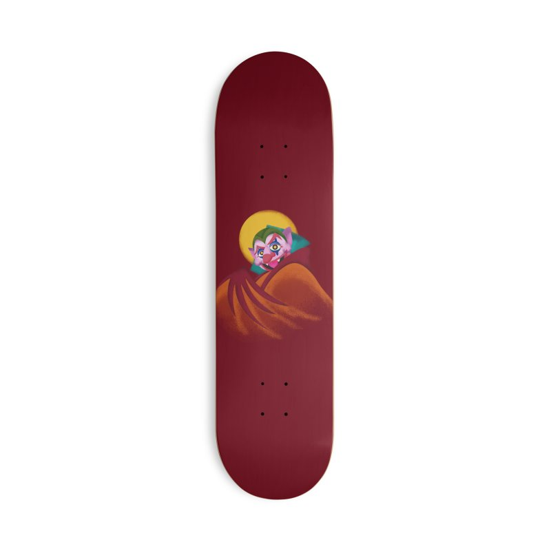 put on the happy fangs Accessories Deck Only Skateboard by okik's Artist Shop