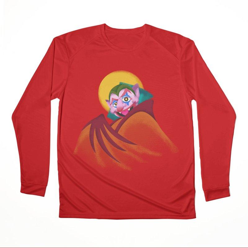put on the happy happy fangs Men's Performance Longsleeve T-Shirt by okik's Artist Shop