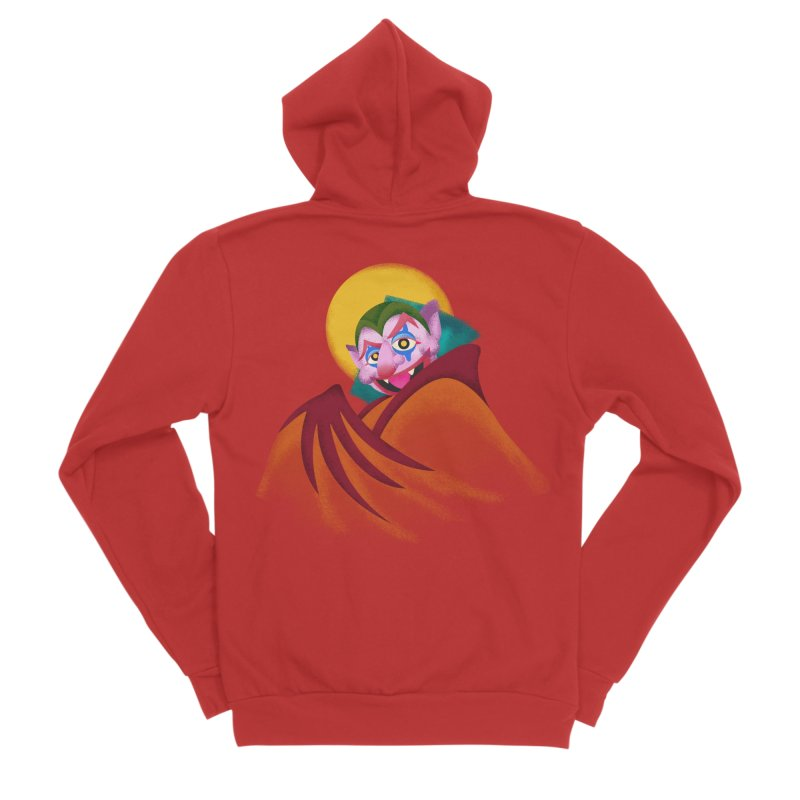 put on the happy happy fangs Men's Zip-Up Hoody by okik's Artist Shop