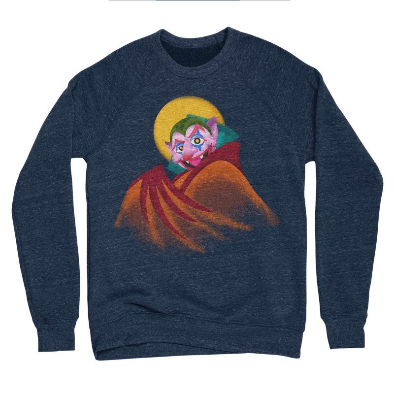 put on the happy happy fangs Men's Sponge Fleece Sweatshirt by okik's Artist Shop