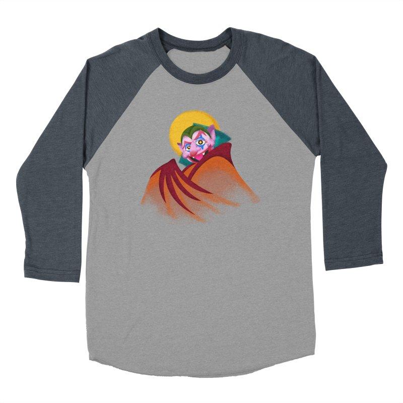 put on the happy happy fangs Men's Baseball Triblend Longsleeve T-Shirt by okik's Artist Shop