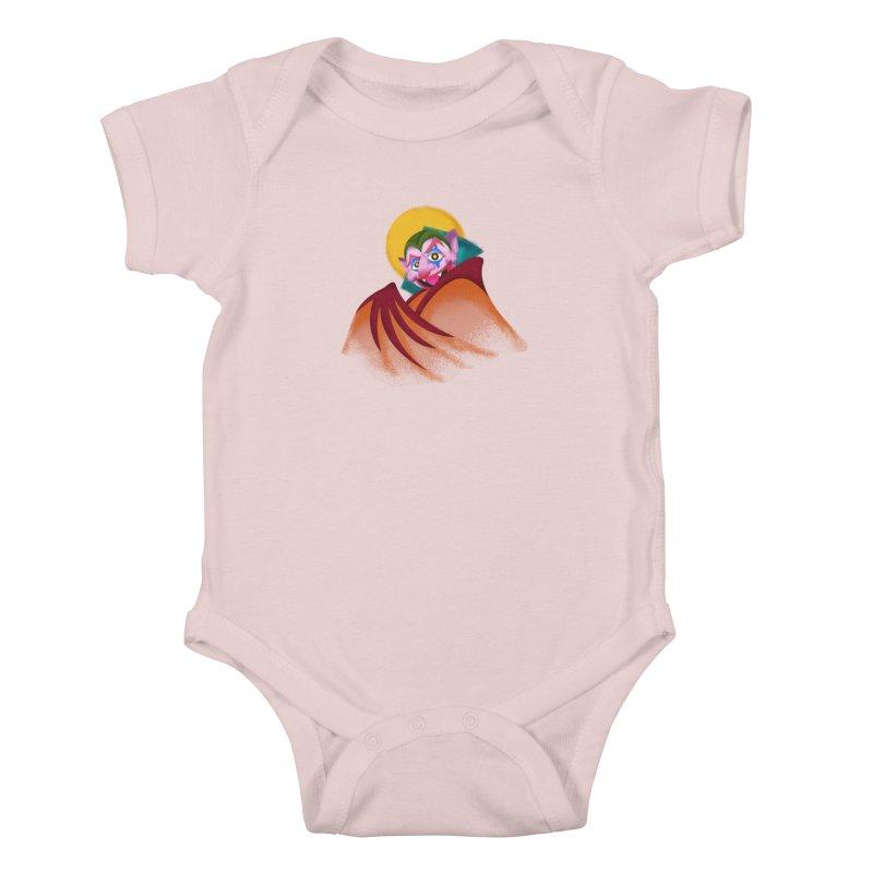 put on the happy happy fangs Kids Baby Bodysuit by okik's Artist Shop
