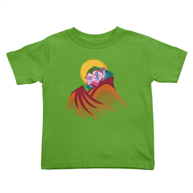 put on the happy happy fangs Kids Toddler T-Shirt by okik's Artist Shop