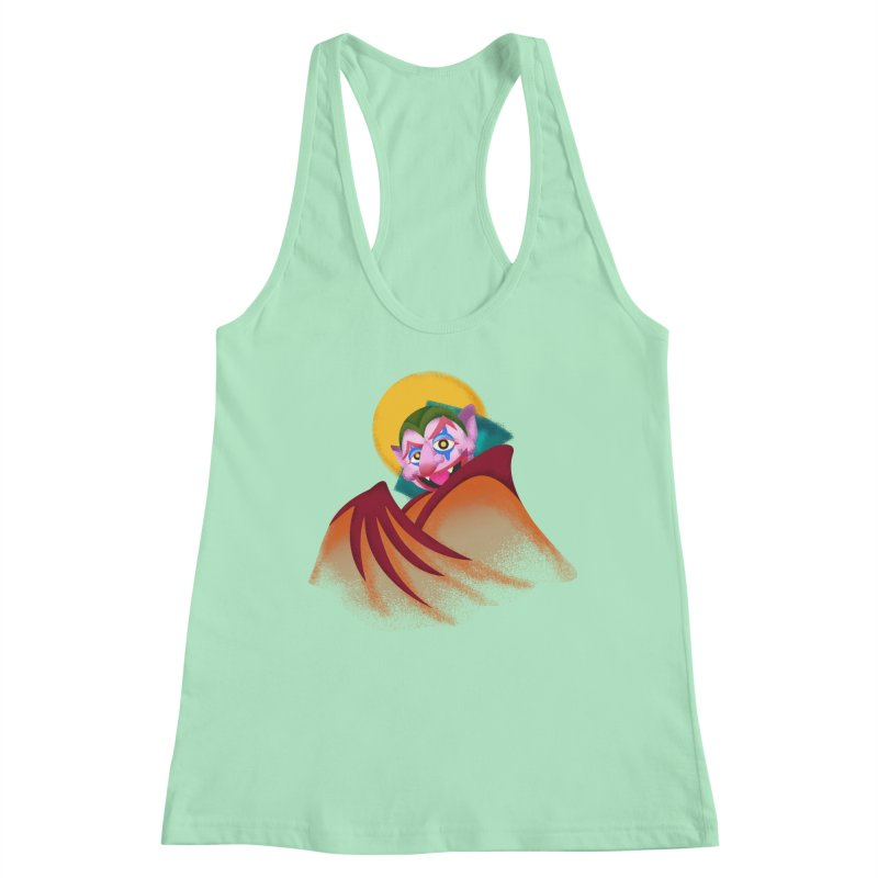 put on the happy happy fangs Women's Racerback Tank by okik's Artist Shop