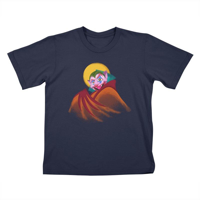 put on the happy happy fangs Kids T-Shirt by okik's Artist Shop