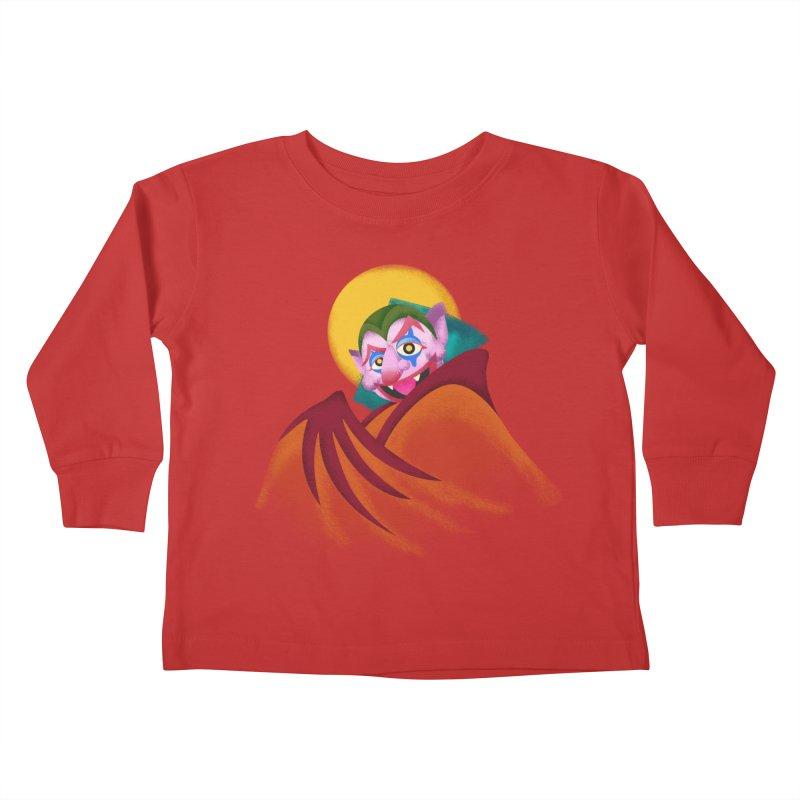 put on the happy happy fangs Kids Toddler Longsleeve T-Shirt by okik's Artist Shop