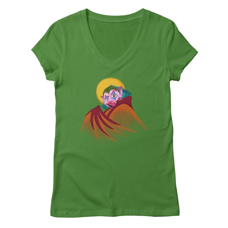 put on the happy happy fangs Women's Regular V-Neck by okik's Artist Shop