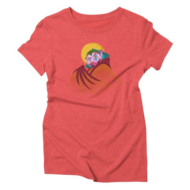 put on the happy happy fangs Women's Triblend T-Shirt by okik's Artist Shop