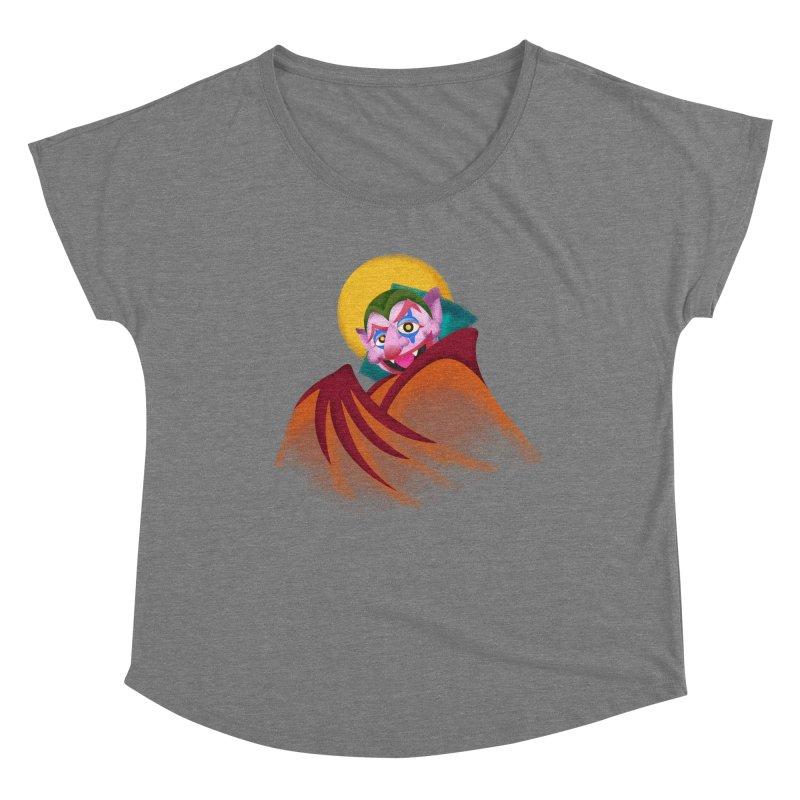 put on the happy happy fangs Women's Scoop Neck by okik's Artist Shop