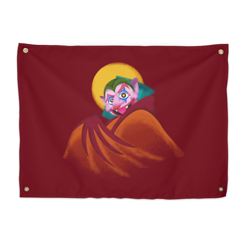 put on the happy happy fangs Home Tapestry by okik's Artist Shop
