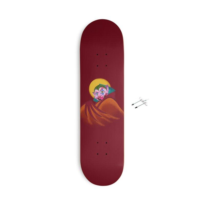 put on the happy happy fangs Accessories Skateboard by okik's Artist Shop