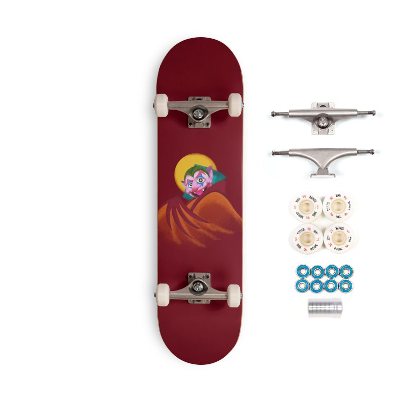 put on the happy happy fangs Accessories Complete - Premium Skateboard by okik's Artist Shop