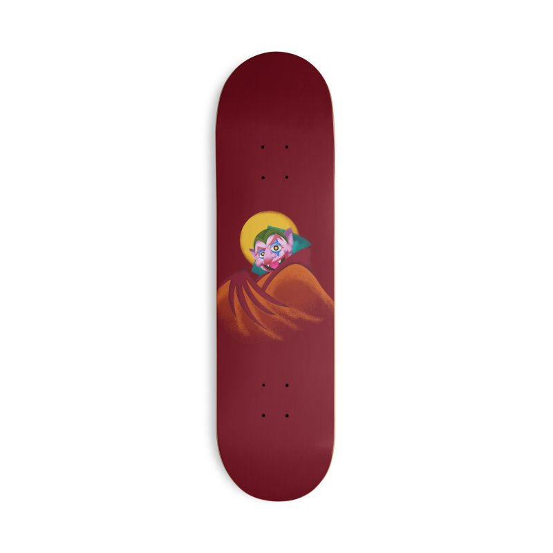 put on the happy happy fangs Accessories Deck Only Skateboard by okik's Artist Shop