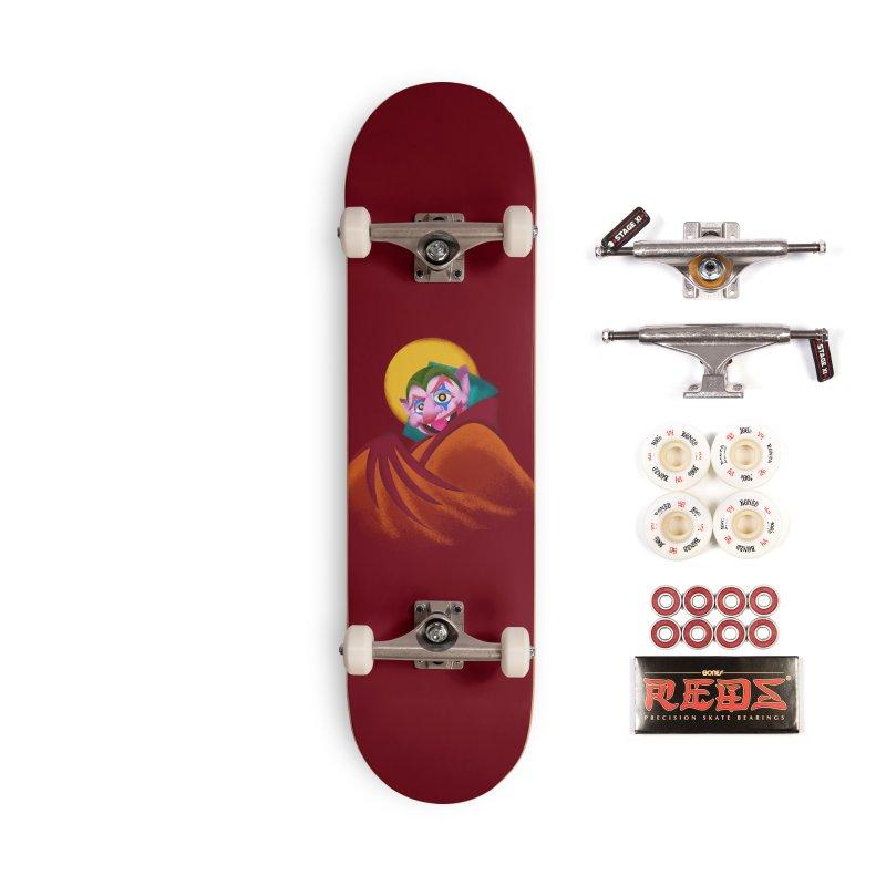 put on the happy happy fangs Accessories Complete - Pro Skateboard by okik's Artist Shop