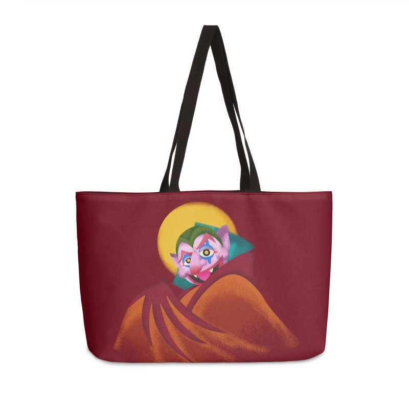 put on the happy happy fangs Accessories Weekender Bag Bag by okik's Artist Shop