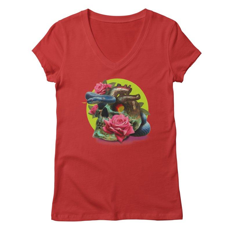 wild think Women's V-Neck by okik's Artist Shop