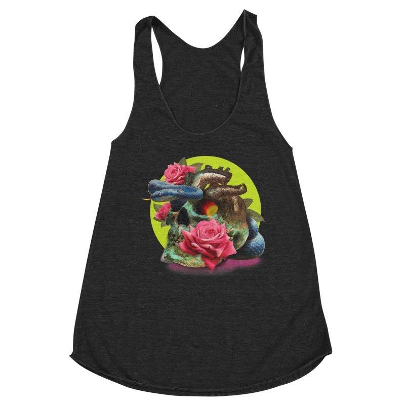 wild think Women's Racerback Triblend Tank by okik's Artist Shop