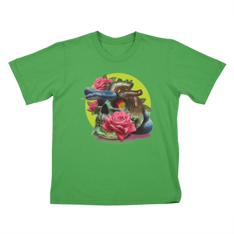 wild think Kids T-Shirt by okik's Artist Shop