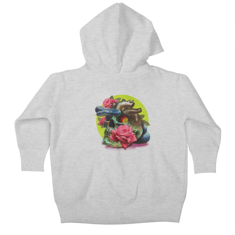 wild think Kids Baby Zip-Up Hoody by okik's Artist Shop