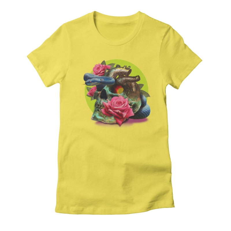 wild think Women's Fitted T-Shirt by okik's Artist Shop