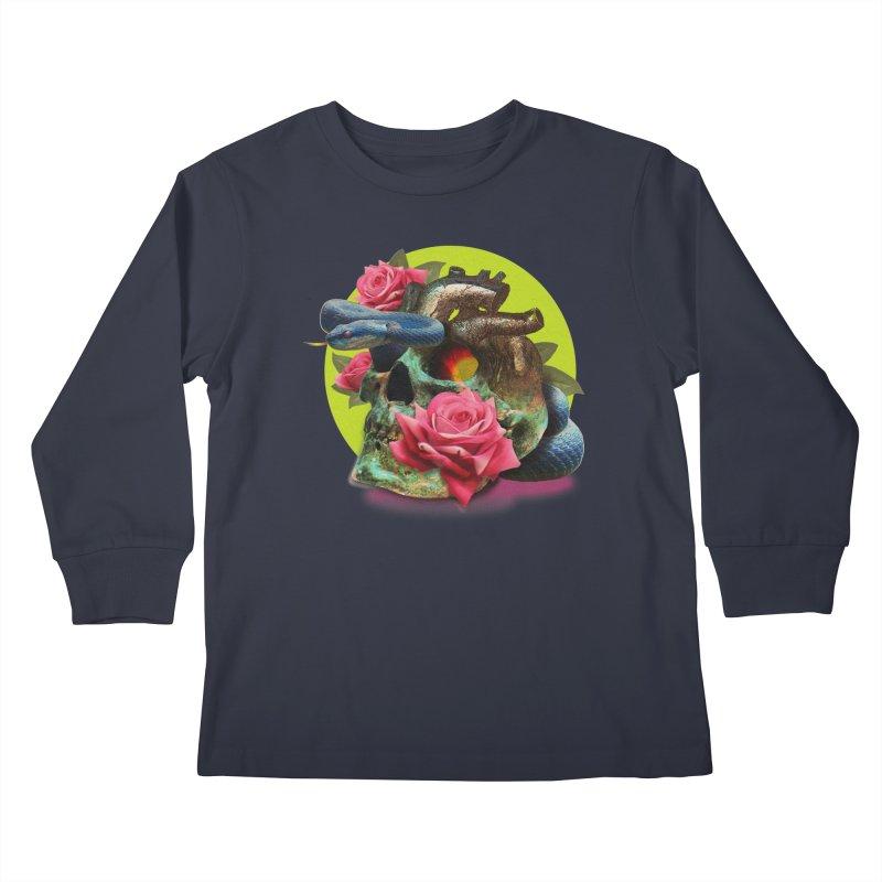 wild think Kids Longsleeve T-Shirt by okik's Artist Shop