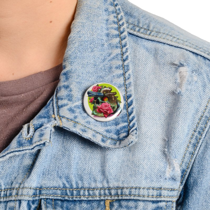 wild think Accessories Button by okik's Artist Shop