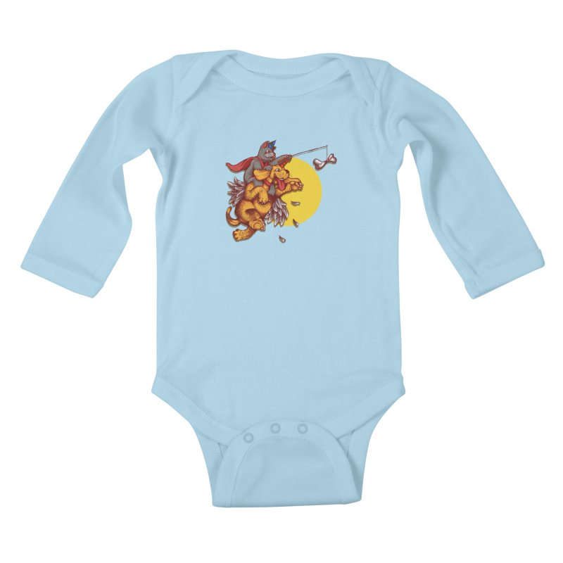 soo close yet sooo far Kids Baby Longsleeve Bodysuit by okik's Artist Shop