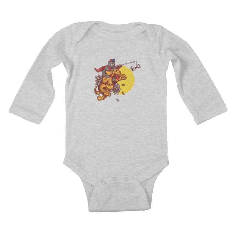 soo close yet sooo far Kids Baby Longsleeve Bodysuit by okik's Artist Shop