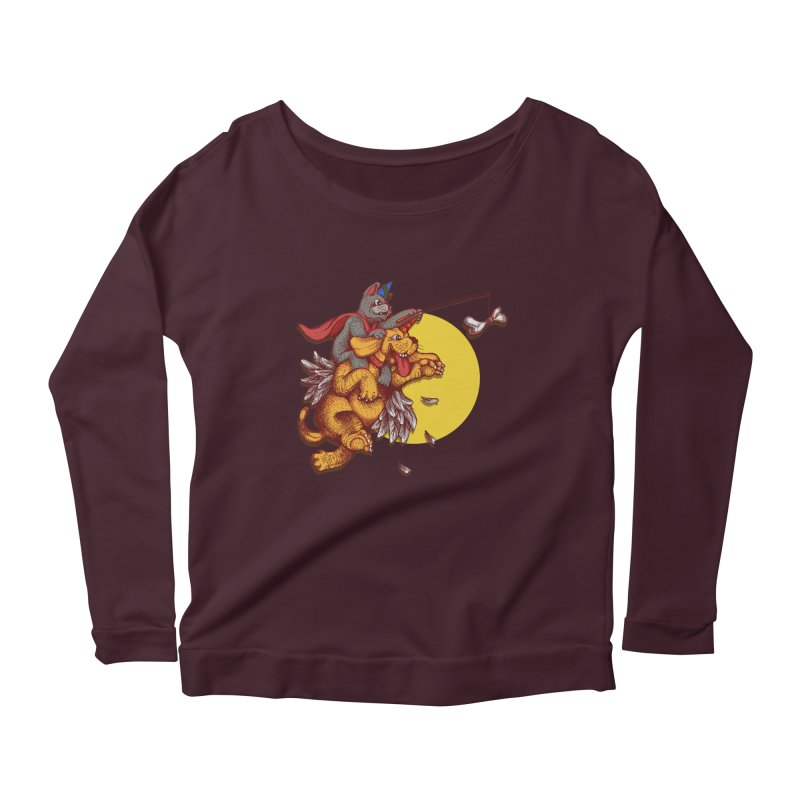 soo close yet sooo far Women's Longsleeve Scoopneck  by okik's Artist Shop