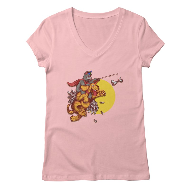 soo close yet sooo far Women's V-Neck by okik's Artist Shop