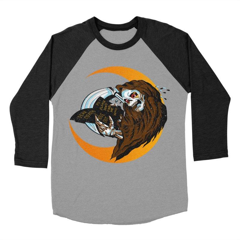 deathwish Men's Baseball Triblend T-Shirt by okik's Artist Shop