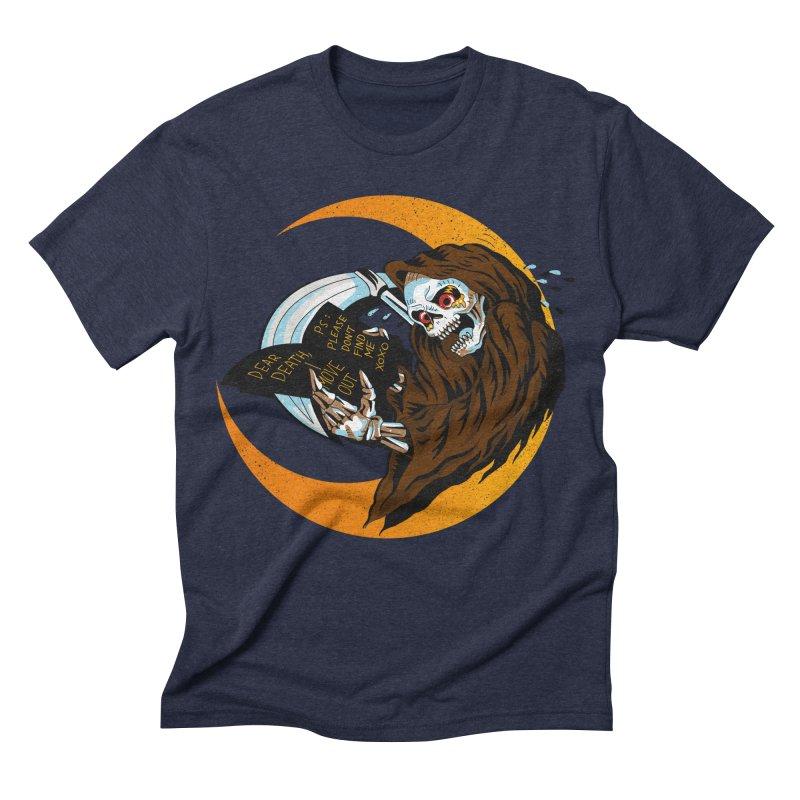 deathwish Men's Triblend T-shirt by okik's Artist Shop