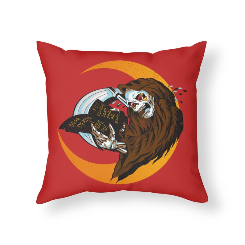 deathwish Home Throw Pillow by okik's Artist Shop
