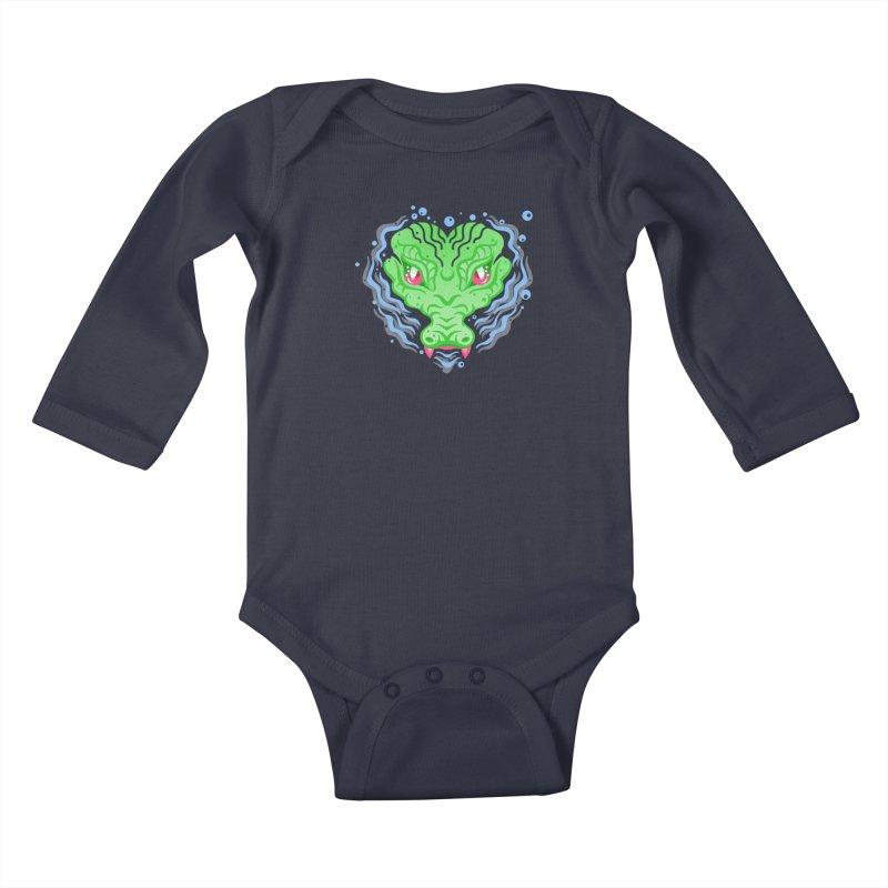 luv u 2 death Kids Baby Longsleeve Bodysuit by okik's Artist Shop