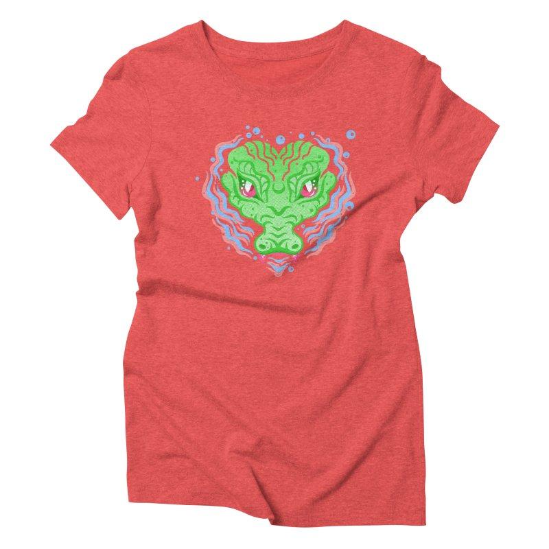 luv u 2 death Women's Triblend T-shirt by okik's Artist Shop