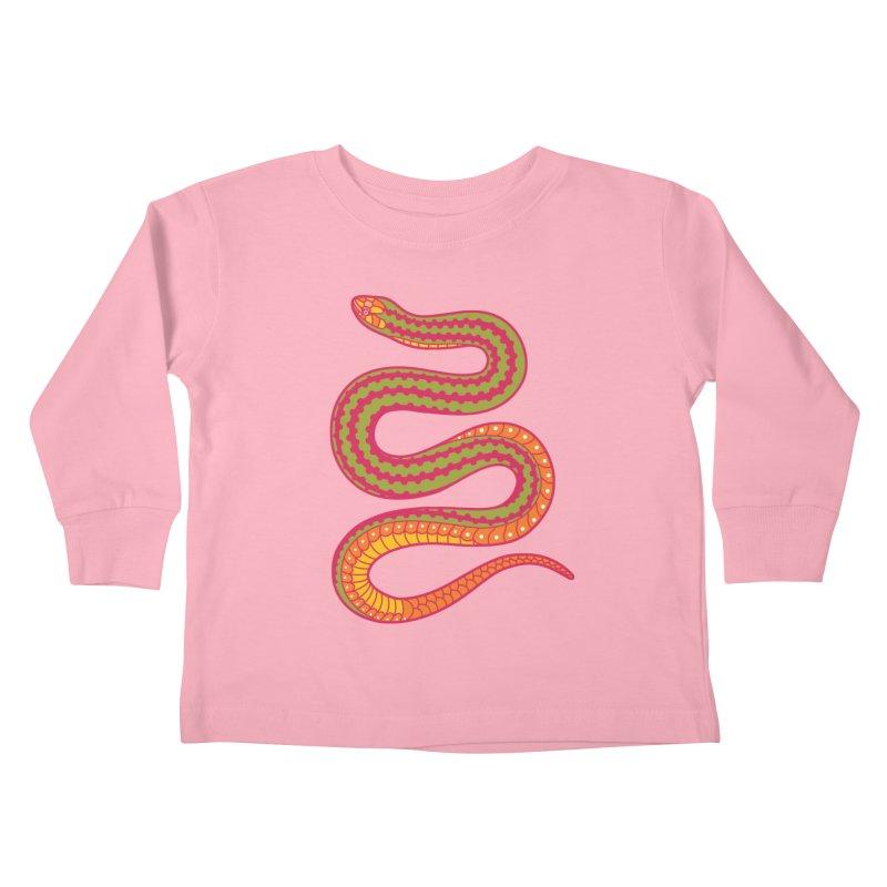 forbidden fruit Kids Toddler Longsleeve T-Shirt by okik's Artist Shop
